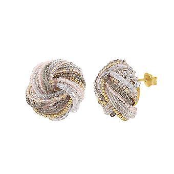 Eternal Collection Chantilly Murano Glass Torsade Pierced Earrings
