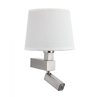 Mantra Bahia Wall Lamp 1 Light Without Shade E27 - Reading Light 3W LED Satin Nickel 4000K, 200lm,, 3yrs Warranty