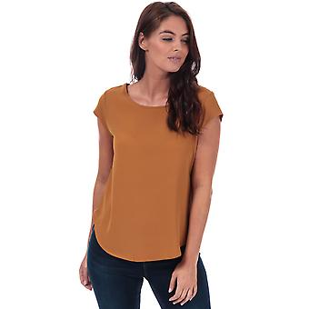 Womens Only Vic Short Sleeve Top in cathay spice.