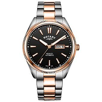 Rotary   Mens Henley   Serrated Bezel    Stainless Steel Strap   GB05382/04 Watch