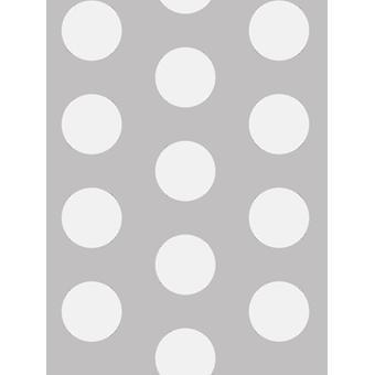 Big Dots Polka Dot Wallpaper White / Grey A617 CAO 1