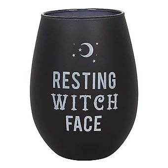 Something Different Resting Witch Face Stemless Wine Glass