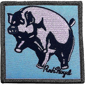 Pink Floyd Animals Inflatable Pig iron-on / sew-on embroidered patch 75mm square (ro)