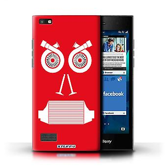 STUFF4 Case/Cover for Blackberry Leap/Turbo/Red/Car Part Faces