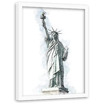 Picture In Black Frame, Statue Of Liberty