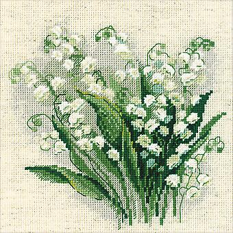 Lilly Of The Valley Counted Cross Stitch Kit-8