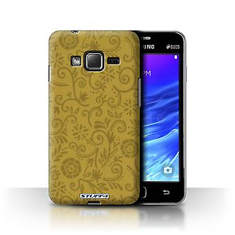STUFF4 Case/Cover for Samsung Z1/Z130/Yellow Flower/Floral Swirl Pattern