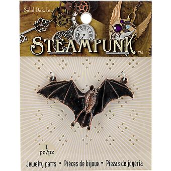 Steampunk Metal Pendant 1/Pkg-Bat STEAM155