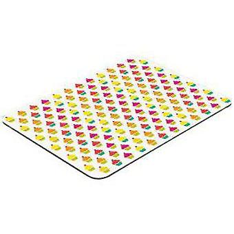 Pebbly Rectangular Glass Cutting Board Cup Cake