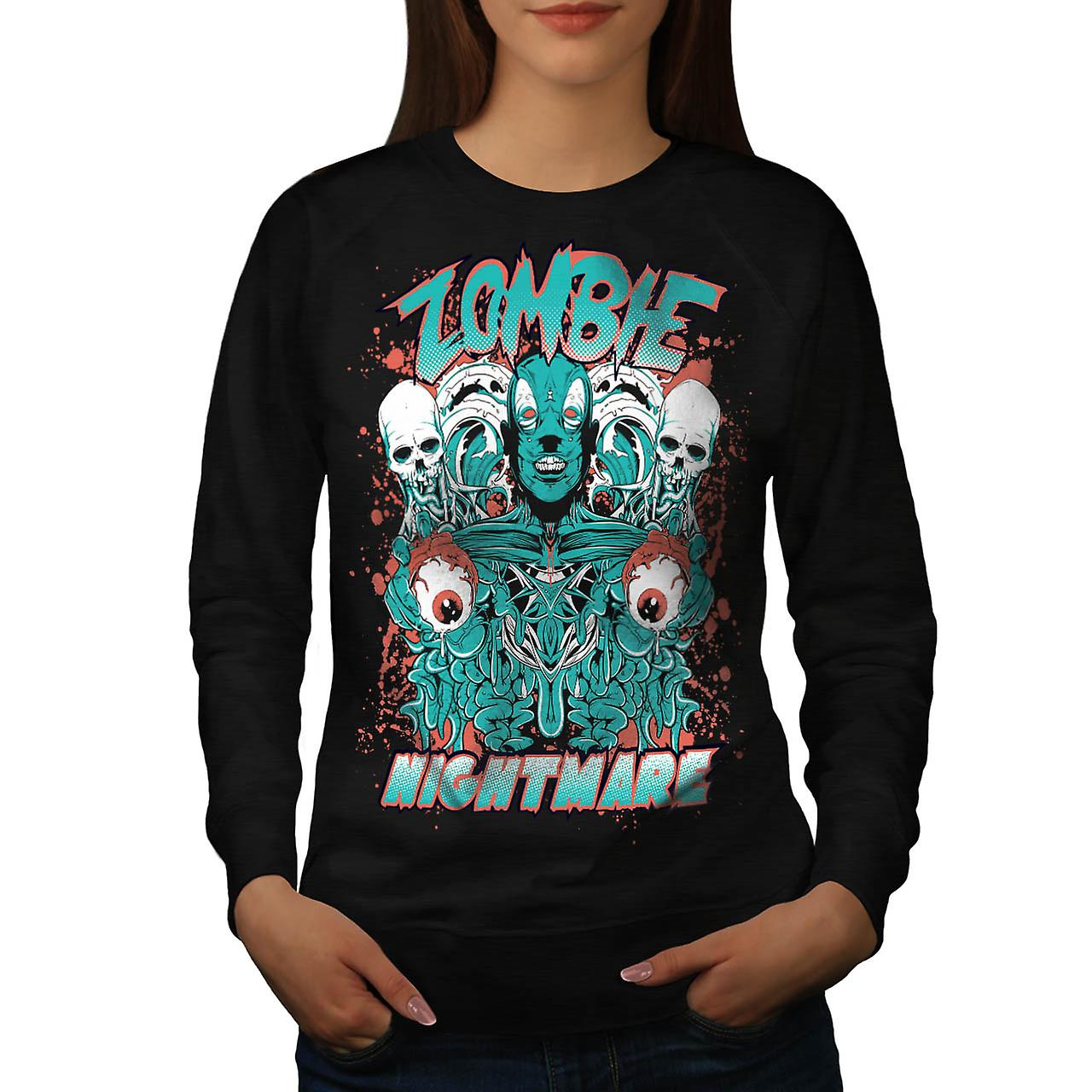 Dead Zombie Nightmare Evil Gang Women Black Sweatshirt | Wellcoda