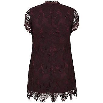 AX PARIS CURVE Purple Turtle Neck Lace Overlay Dress