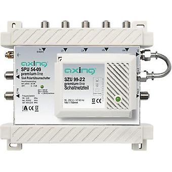 SAT multiswitch Axing SPU 54-09 Inputs (multiswitches): 5 (4 SAT/1 terrestrial) No. of participants: 4 Standby mode, Qua