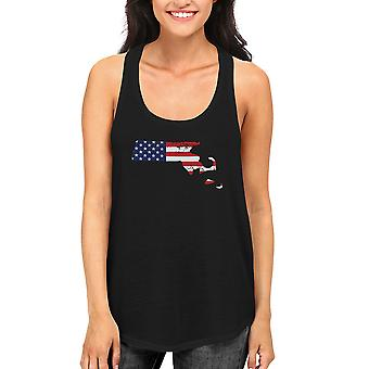 MA State USA Flag Women's Tank Top Massachusetts American Flag Tanks