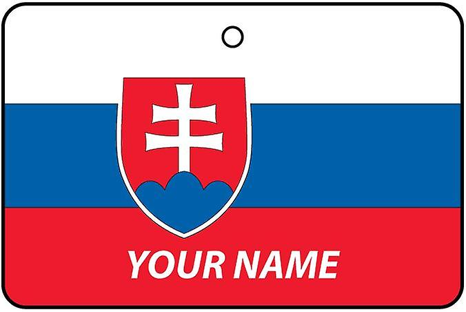 Slovakia Flag Personalised Car Air Freshener