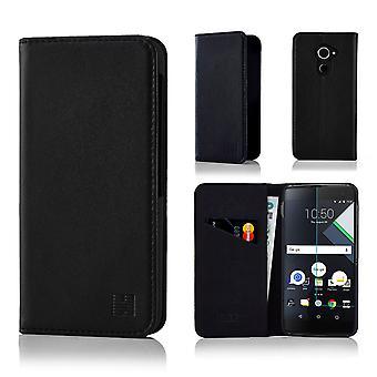 32nd Classic Real Leather Wallet for BlackBerry DTEK60 - Black