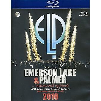Emerson søen & Palmer - 40th Anniversary Reunion Concert [BLU-RAY] USA importerer