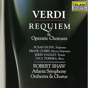 Shaw/Aso - Verdi : Requiem & Operatic chœurs [CD] USA import