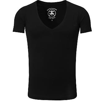 Akito Tanaka T-Shirt basic V neck black