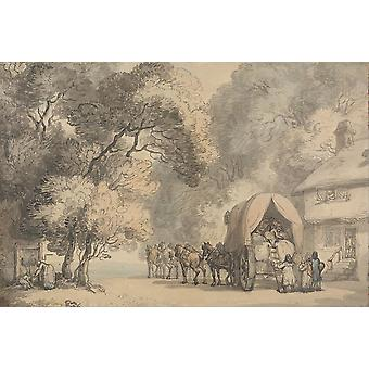 Thomas Rowlandson - A Carrier's Waggon Poster Print Giclee