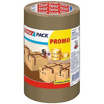 Tesa Promo Pack 3 Rolls Packaging Tape 66Mx50Mm (DIY , Hardware , Glues and adhesives)