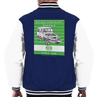 Haynes Workshop Manual 0313 Toyota Landcruiser Stripe Men's Varsity Jacket