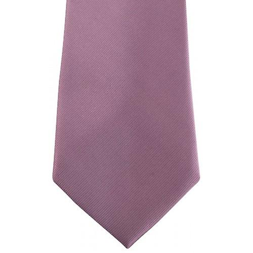 David Van Hagen Diagonal Ribbed Tie - Pale Lilac