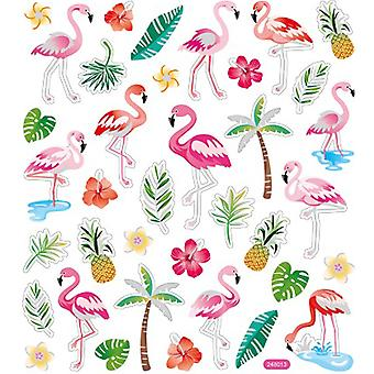 Multicolored Stickers-Flamingos SK129MC-4802