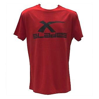 X-BLADES rugby logo t-shirt [red]