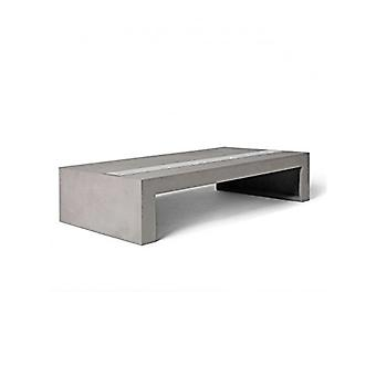 Lyon Beton Concrete Coffee table with Tempered Glass (130 x 70 x 30cm)
