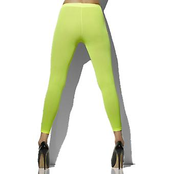 Smiffys Opaque Footless Tights Neon Green (Costumes)