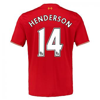2015-16 Liverpool Home Shirt (Henderson 14) - Kids