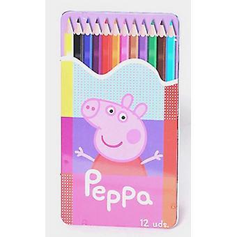 Peppa Pig 12 farve sæt farveblyanter