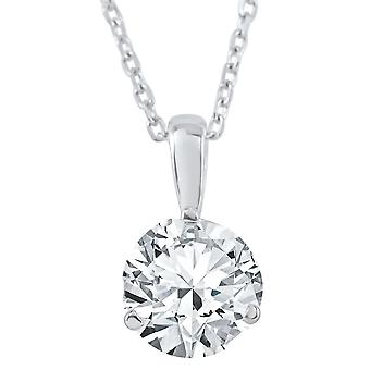 5/8 ct Solitaire Lab Grown Diamond Pendant available in 14K and Platinum
