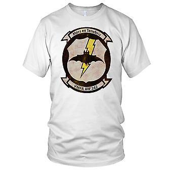 USMC Marines VMFA AW 242 Insignia Grunge Effect Kids T Shirt