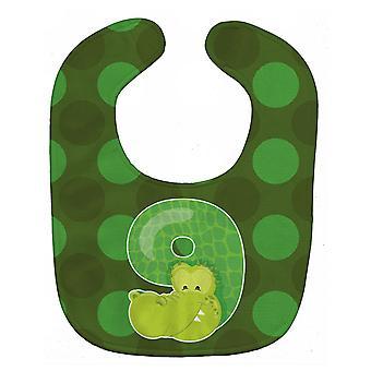 Carolines Treasures  BB9016BIB Zoo Month 9 Aligator Baby Bib
