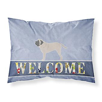 English Mastiff Welcome Fabric Standard Pillowcase