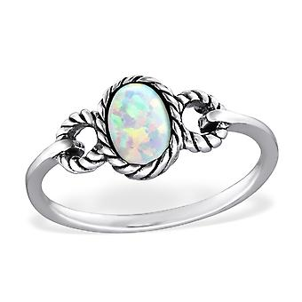 Oval - 925 Sterling Silver Jewelled Rings - W31461x