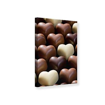 Canvas Print Candy Hearts