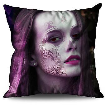 Mystic Girl Cool Fashion Linen Cushion Mystic Girl Cool Fashion | Wellcoda