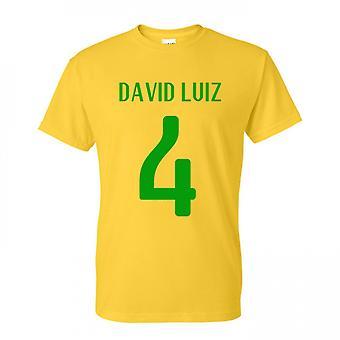 David Luiz Brasil herói t-shirt (amarelo)