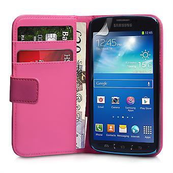 Samsung Galaxy S4 aktive Lederoptik Wallet - Hot Pink