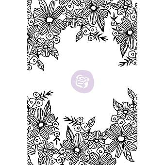 Christine Adolf Cling Rubber Stamps-Daisy Frame CACS-71663