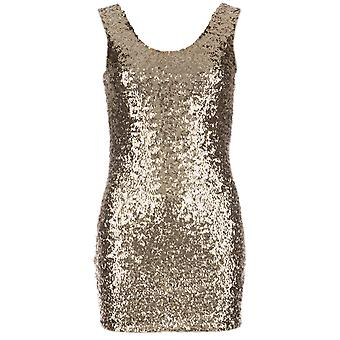 Womens Clubl Sequin Bodycon Dress In Champagne