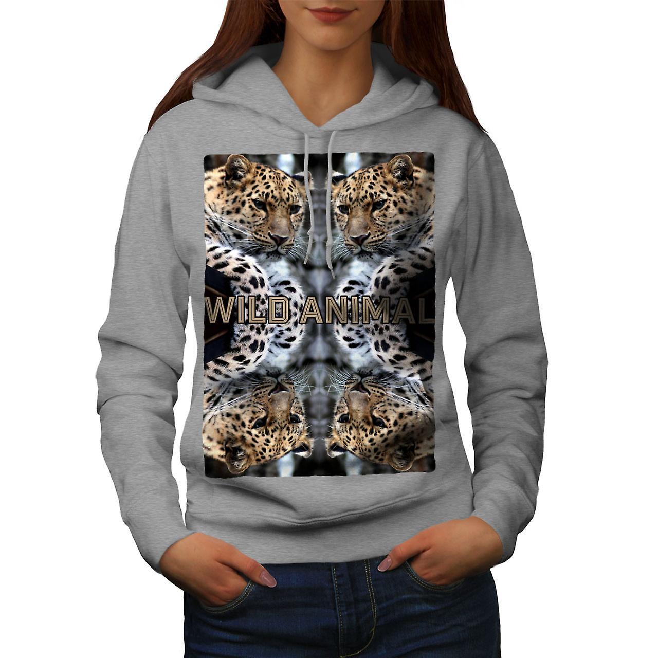 Wild Leopard Cat femmes grisHoodie