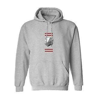 Floating Lines Geometric Figure Graphic Men's Sports Grey Hoodie