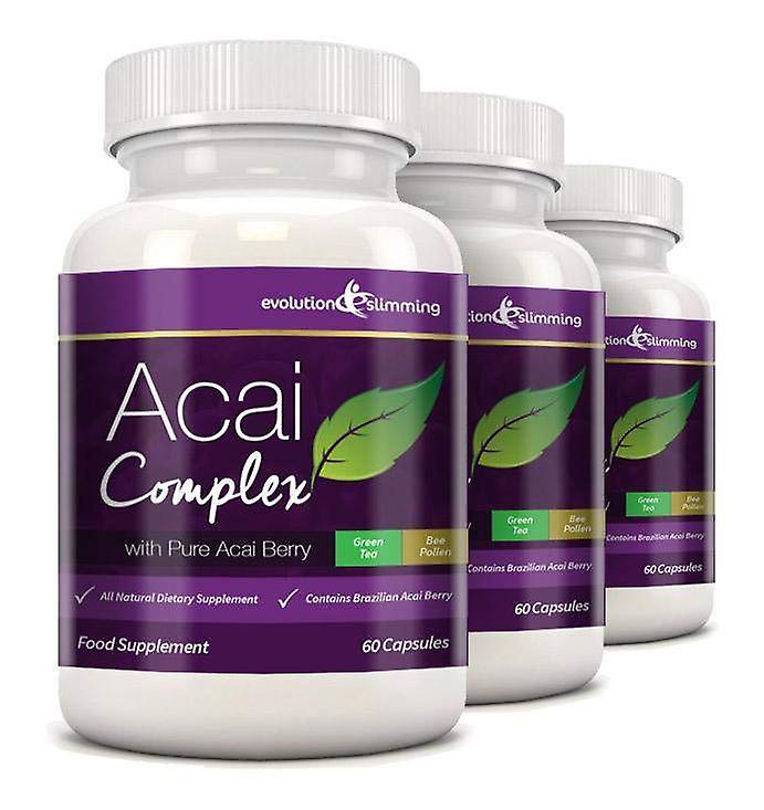 Acai Berry Complex 455mg - 180 Capsules (3 Month Supply) - Acai Berry - Evolution Slimming