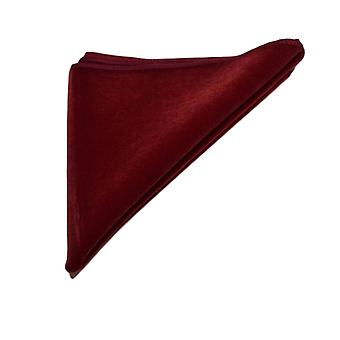 Luxury Bordeaux Red Velvet Pocket Square, Handkerchief