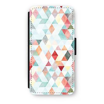 iPhone 8 Plus Flip Case - Coloured triangles pastel