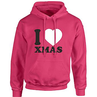 I Love Christmas Xmas Unisex Hoodie 10 Colours (S-5XL) by swagwear
