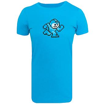 Capcom kvinders Mega mand Classic 8 Bit overkurs monteret T-Shirt-turkis Lyng